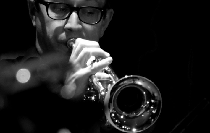 Ian Buzer on trumpet