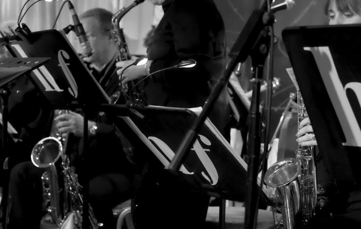 Gilly Burgoyne on alto saxophone