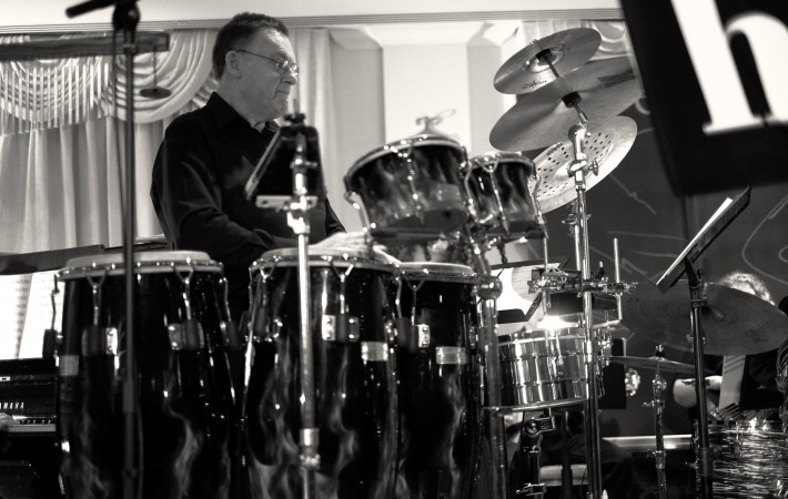 Bob Airzee on percussion